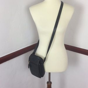 FRYE CROSSBODY LEATHER PURSE BLACK WELL LOVED